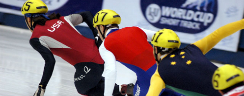 500m Short Track at the 2004 World Cup in Saguenay