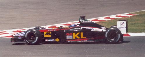 Webber in a 2002 Minardi