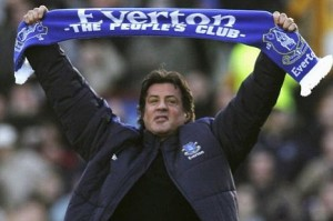 Sylvester Stallone at Everton