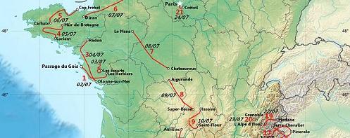 Tour de France 2011 Route Extract