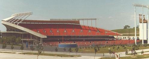 Kauffman Stadium in 1981