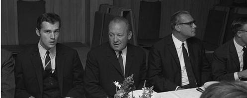 Franz Beckenbauer (left) in 1967