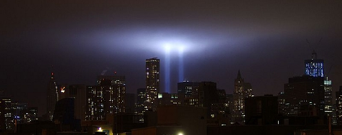 September 11, 2011 Light Tribute to WTC