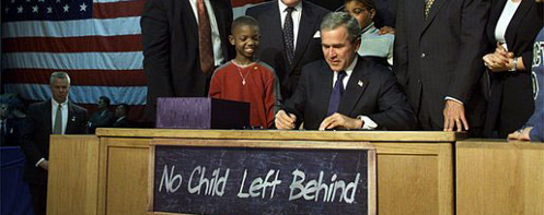 No Child Left Behind Signing