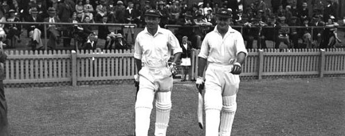 Don Bradman and Stan McCabe at the WACA