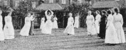 Netball at the Bournville Club, 1910