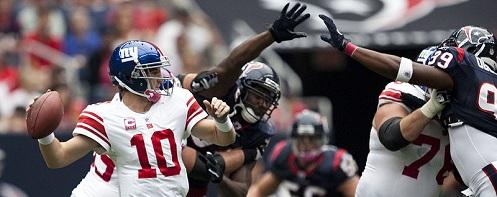 Eli Manning vs Texans October 2010