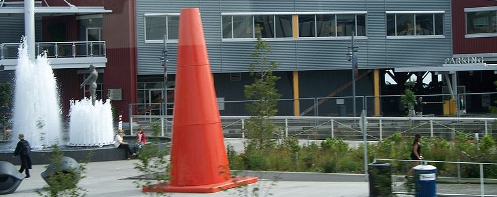 Giant traffic cone in Seattle