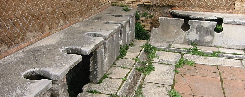 Ancient Roman latrines from Ostia
