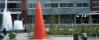 A giant traffic cone in Seattle