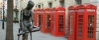 Enzo Plazotta's 'Young Dancer' and red telephone boxes