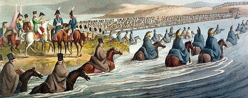 Crossing the Neman River into Russia in 1812