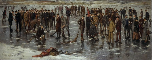 'Curling at Carsebeck' by Charles Martin Hardie
