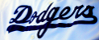 LA Dodgers uniform script