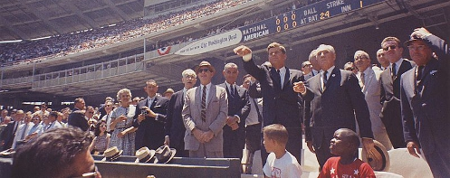 JFK at the 1962 MLB All-Star Game