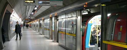 The Jubilee Line at Waterloo